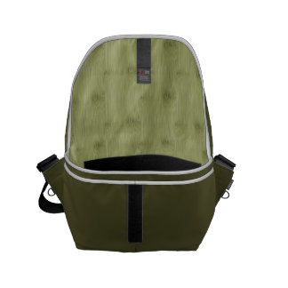 The Look of Bamboo in Olive Moss Green Wood Grain Small Messenger Bag