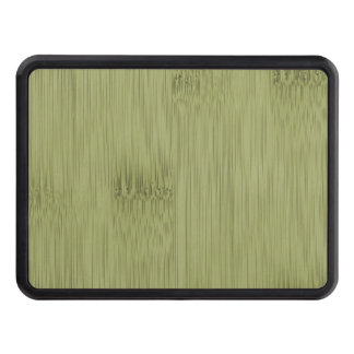 The Look of Bamboo in Olive Moss Green Wood Grain Trailer Hitch Cover