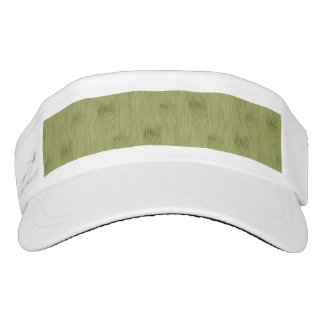 The Look of Bamboo in Olive Moss Green Wood Grain Visor