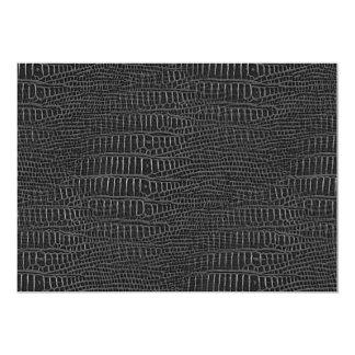 The Look of Black Realistic Alligator Skin Card