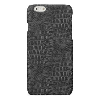 The Look of Black Realistic Alligator Skin Glossy iPhone 6 Case