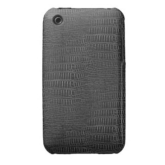 The Look of Black Realistic Alligator Skin iPhone 3 Cover