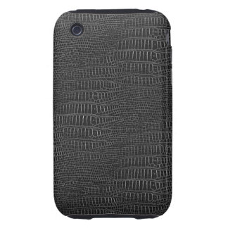 The Look of Black Realistic Alligator Skin iPhone 3 Tough Cover