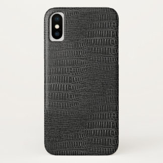 The Look of Black Realistic Alligator Skin iPhone X Case