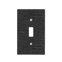 The Look of Black Realistic Alligator Skin Light Switch Cover