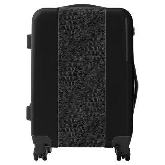 The Look of Black Realistic Alligator Skin Luggage