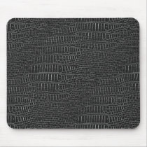 The Look of Black Realistic Alligator Skin Mouse Pad
