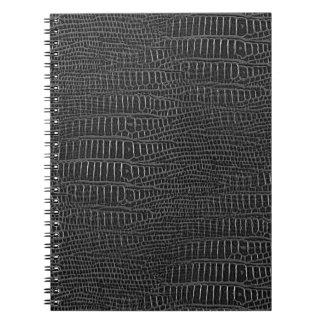 The Look of Black Realistic Alligator Skin Notebook