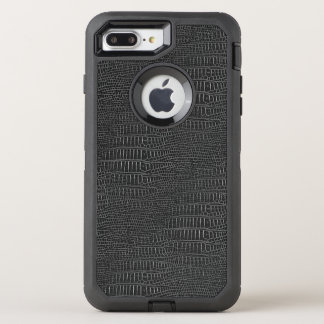 The Look of Black Realistic Alligator Skin OtterBox Defender iPhone 8 Plus/7 Plus Case