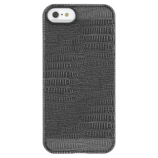 The Look of Black Realistic Alligator Skin Permafrost iPhone SE/5/5s Case