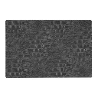 The Look of Black Realistic Alligator Skin Placemat