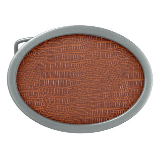 The Look of Brown Realistic Alligator Skin Belt Buckle