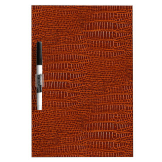 The Look of Brown Realistic Alligator Skin Dry-Erase Board