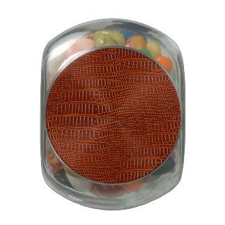 The Look of Brown Realistic Alligator Skin Glass Jar