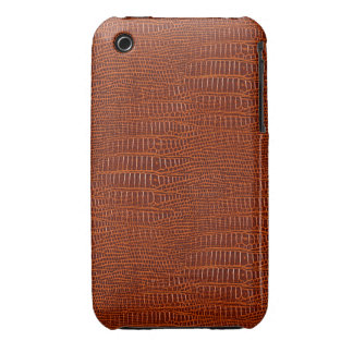 The Look of Brown Realistic Alligator Skin iPhone 3 Case