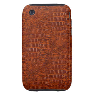 The Look of Brown Realistic Alligator Skin iPhone 3 Tough Cover