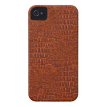 The Look of Brown Realistic Alligator Skin iPhone 4 Cover