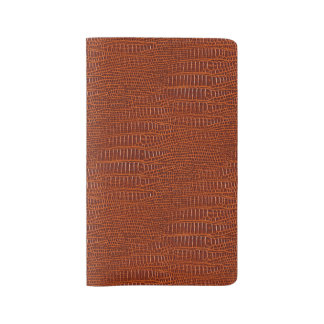 The Look of Brown Realistic Alligator Skin Large Moleskine Notebook