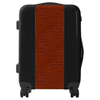 The Look of Brown Realistic Alligator Skin Luggage