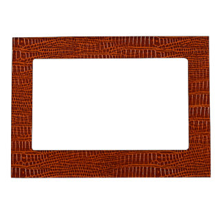The Look of Brown Realistic Alligator Skin Magnetic Photo Frame