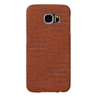 The Look of Brown Realistic Alligator Skin Samsung Galaxy S6 Cases