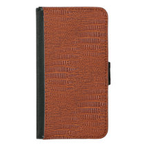The Look of Brown Realistic Alligator Skin Wallet Phone Case For Samsung Galaxy S5