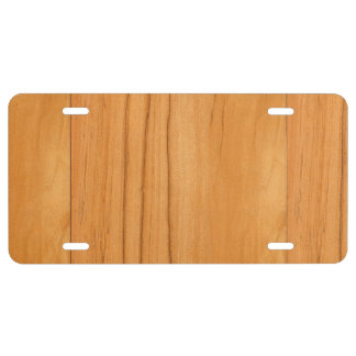 The Look of Caramel Birch Wood Grain Texture License Plate