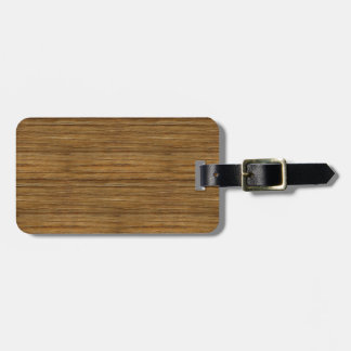 The Look of Driftwood Oak Wood Grain Texture Luggage Tag