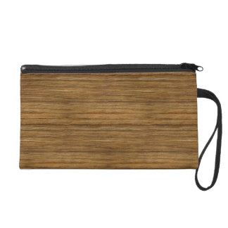 The Look of Driftwood Oak Wood Grain Texture Wristlet Purse