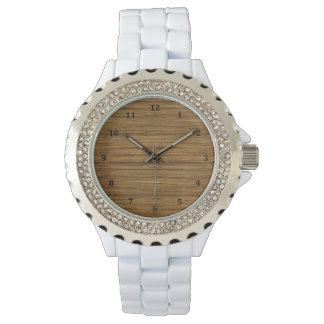 The Look of Driftwood Oak Wood Grain Texture Wristwatch
