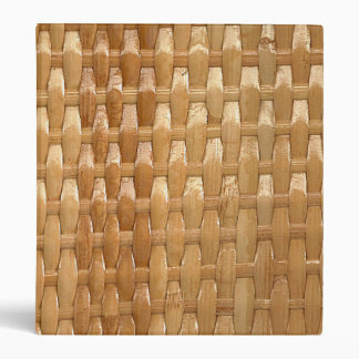 The Look of Lacquer Wicker Basketweave Texture 3 Ring Binder