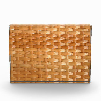 The Look of Lacquer Wicker Basketweave Texture Acrylic Award