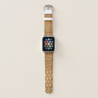 The Look of Lacquer Wicker Basketweave Texture Apple Watch Band