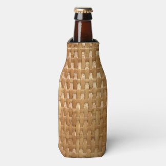 The Look of Lacquer Wicker Basketweave Texture Bottle Cooler