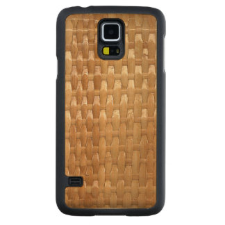 The Look of Lacquer Wicker Basketweave Texture Carved Maple Galaxy S5 Case