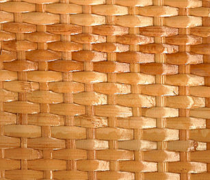 The Look Of Lacquer Wicker Basketweave Texture Ceramic Drawer Pull