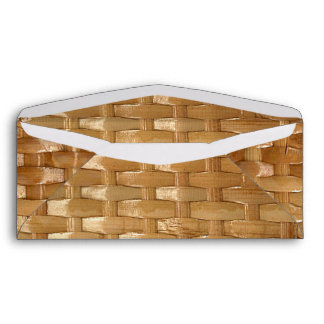 The Look of Lacquer Wicker Basketweave Texture Envelope