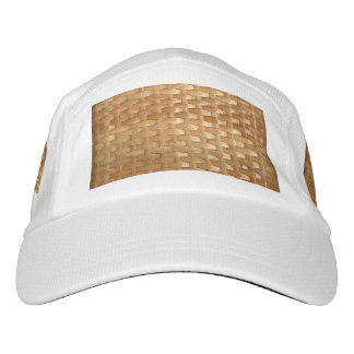 The Look of Lacquer Wicker Basketweave Texture Hat
