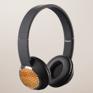 The Look of Lacquer Wicker Basketweave Texture Headphones