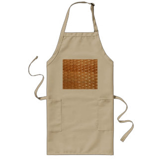 The Look of Lacquer Wicker Basketweave Texture Long Apron