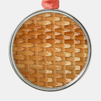 The Look of Lacquer Wicker Basketweave Texture Metal Ornament