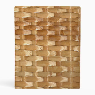 The Look of Lacquer Wicker Basketweave Texture Mini Binder