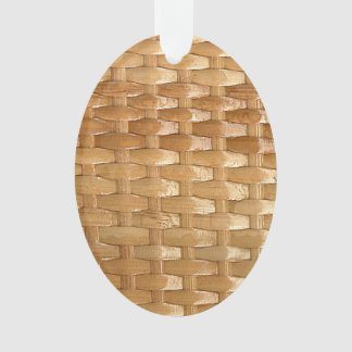 The Look of Lacquer Wicker Basketweave Texture Ornament
