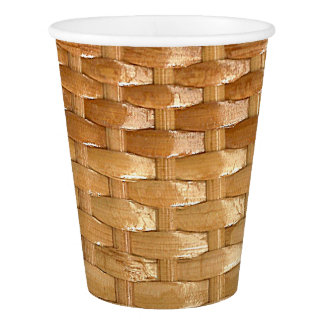The Look of Lacquer Wicker Basketweave Texture Paper Cup