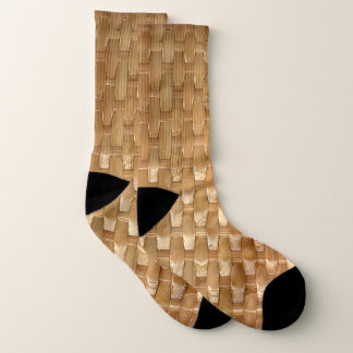 The Look of Lacquer Wicker Basketweave Texture Socks