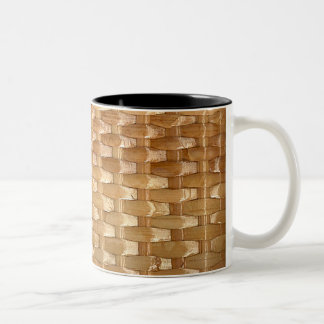 The Look of Lacquer Wicker Basketweave Texture Two-Tone Coffee Mug