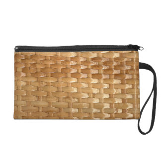 The Look of Lacquer Wicker Basketweave Texture Wristlet Purse