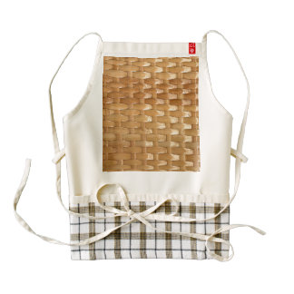 The Look of Lacquer Wicker Basketweave Texture Zazzle HEART Apron