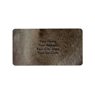The look of Luxurious Seal Point Siamese Cat Fur Label
