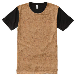 The Look of Macadamia Cork Burl Wood Grain All-Over Print T-shirt